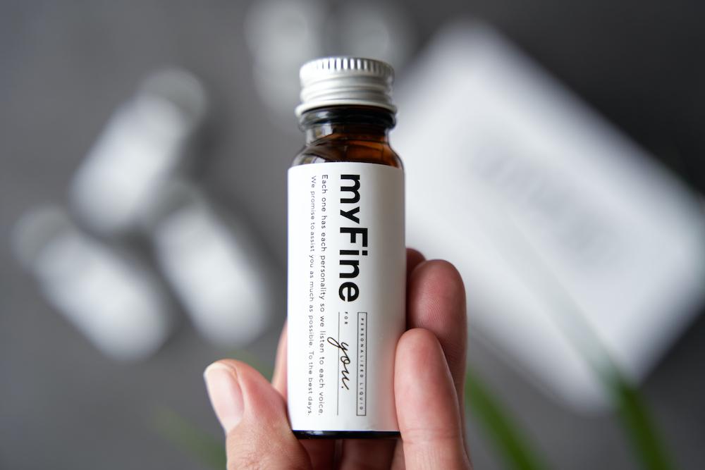 画像:リキッドタイプのオーダーメイドサプリメントmyFine(マイファイン)