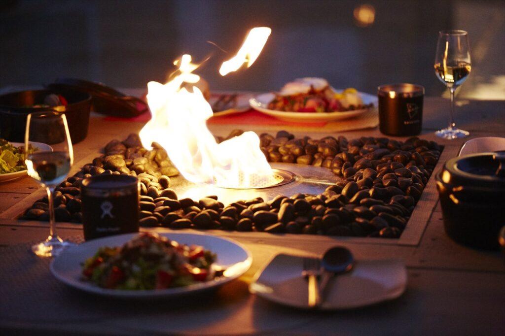 テーブルタイプ バイオエタノール暖炉